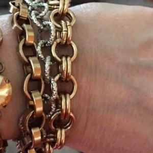Sabika 3 row chain braclet